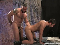 Hariry and tattooed Spencer Reed expands Spencer Fox's ass