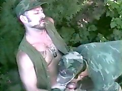Mature military hunk gets blown by a lower rank