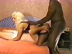 Wife makes hubby take some big black cock