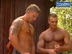 Uncut Hung Muscle Studs Tag Team Plowing Captive Hole