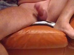 Daddy jacks with cum ending and hard nipples