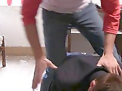 Str8 college chaps caught fucking on tape