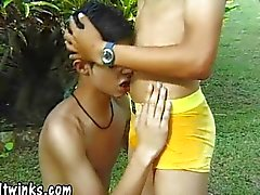 Twinky Latin gardener gets some ass