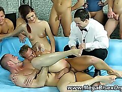 Bisexual threeway hunks and sluts