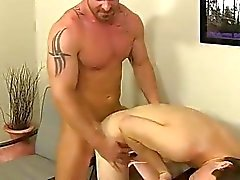 Gay orgy First he gets the messenger to deepthroat his fuck-stick