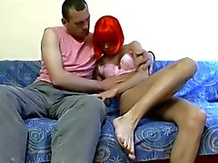 CD Teen With Red Hair Getting Filled With Huge Cock