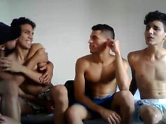Cute latin gay twinks sizzling hot bareback anal assault