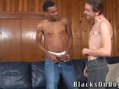 A white guy and a black guy fucking each other