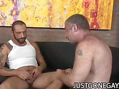 Nasty DILF Bear Christian Volt Being Penetrated By Tattooed DILF Tom Colt