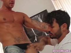 Goran drooling on Jean Frankos rod