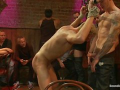 Blonde Hunk is Humiliated In A Bar Full Of Strangers - Scene 1