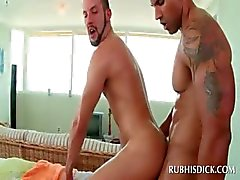 Lusty straight guy gets ass fucked by his gay masseur