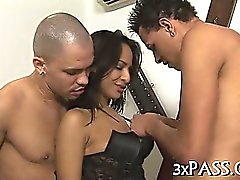 Two bi men and hot woman