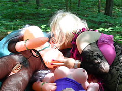 romantic sissy plays with 2 blowup dolls all day slideshow 1