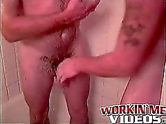 Horny amateur mature dudes Kevin and Red jerk off in a hotel
