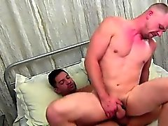 Gay fuck muscle He's rock hard and stroking off when Dominic