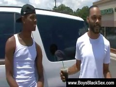 Blacks Thugs Breaking Down Hard Sissy White Boys 12