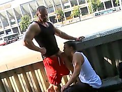 Pal drilled by his cute bf
