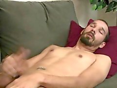 Straight guy shoots cum