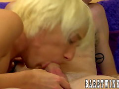 Blond twinks Preston Andrews and Ryan Morrison bareback