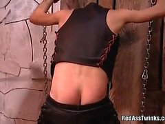 Nasty guy gets tied and fetish spanked
