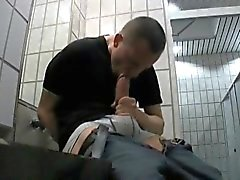 Guy Selfsucking in Public Toilets!