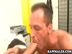 Hot stud sucking a cock and licking an asshole
