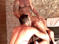 Victor D'Angelo, Drake Rogers and Andy starlet