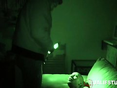Stud surprised by rough sex after oral in night vision