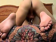 Bi man an wife blowjobs Bathroom Antics Lead To Foot Fun