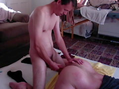 HUNG Straight Frat Dude Practices on my Hole!!!