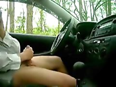 caught jerking in the car