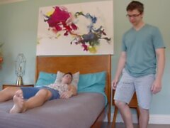 Straight Friends Share The Same Bed And Seduce Each Other - NextDoorStudios