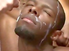 Amateur interracial gay orgy loves bukkake