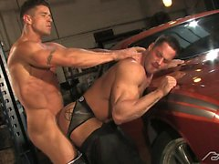 Trenton Ducti and Erik Rhodes take turns fucking each other